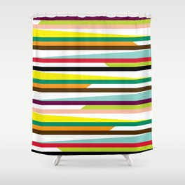 Geometric Pattern #72 (colorful stripes) Shower Curtain