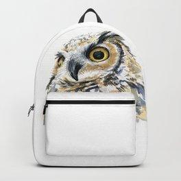 Owl Great Horned Bird of Prey Owls Animals Bird Wildlife Backpack