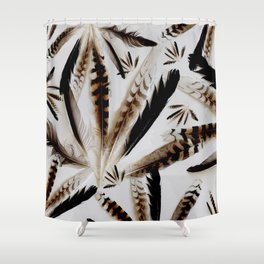 Feather collection pillow Shower Curtain