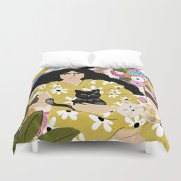 Life with cats Duvet Cover