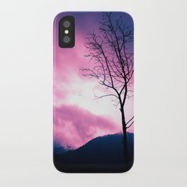 Into the Pink & Purple Sky  - JUSTART © iPhone Case