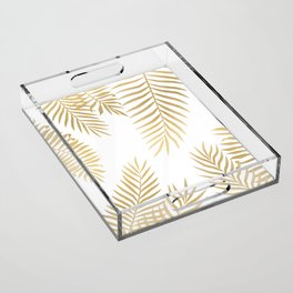 Gold palm leaves Acrylic Tray