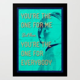 Hey Girl Art Print