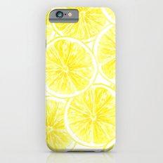 Lemon slices pattern watercolor Slim Case iPhone 6s