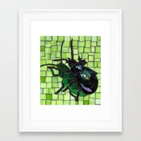 bug Framed Art Prints featuring Bug by Bebe Keith Designs