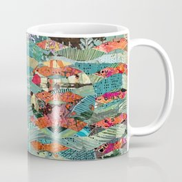 Goodbye Wave Abstract Art Collage Coffee Mug