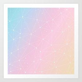 Rainbow Watercolor Astronomy Art Print