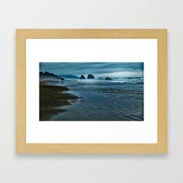 Seascape in Blue Framed Art Print