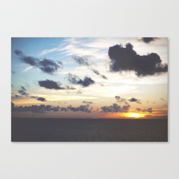 Sunset Over Pamlico Sound, Rodanthe, NC Canvas Print