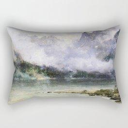 Alaska Scene Near Juneau 1894 By Thomas Hill | Reproduction Rectangular Pillow