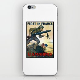 US Marines -- First In France iPhone Skin