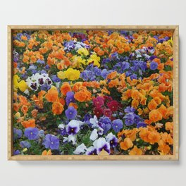 Pancy Flower 2 Serving Tray