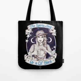 Mystic Miss Maggie Esmerelda (b&w) Tote Bag