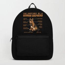 German Shepherd Anatomy Backpack