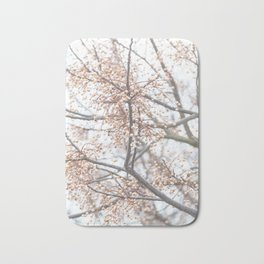 Tree with coral berries and flowers Bath Mat
