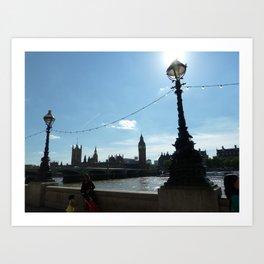 London Lamps Art Print