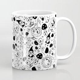 gnomes black and white Coffee Mug