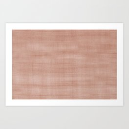 Sherwin Williams Cavern Clay Dry Brush Strokes - Texture Art Print