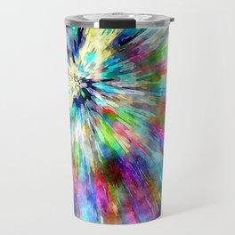 Colorful Tie Dye Watercolor Travel Mug