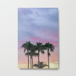 Island Paradise Palm Trees Metal Print