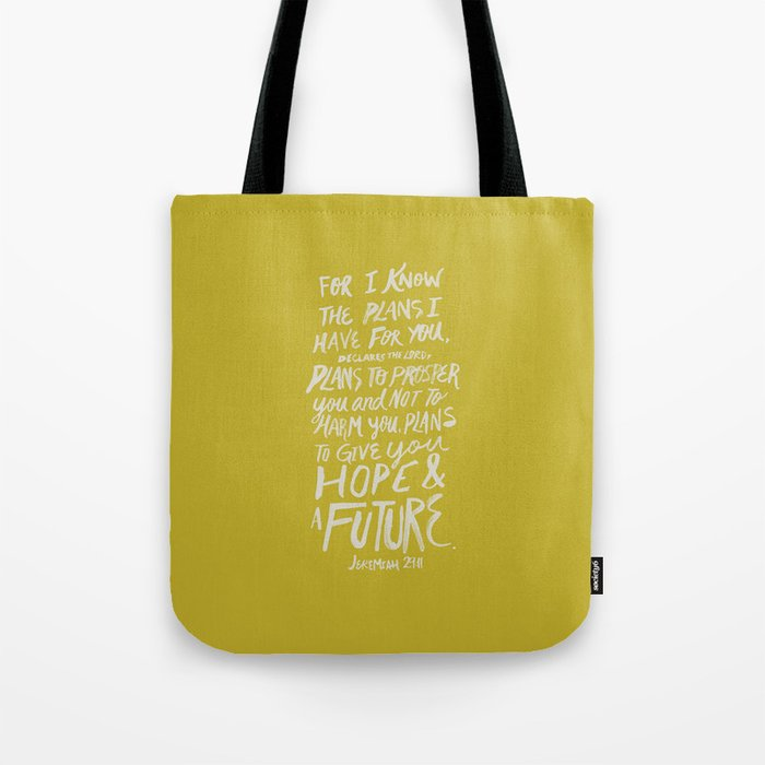 Jeremiah 29:11 /'I Know The Plans/' Canvas Tote Bag