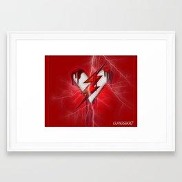 Cupids Bolt - Heartbeat of the Flash Framed Art Print