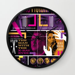Spook Show Tribute Poster 03 Wall Clock