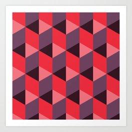 Queen of Hearts [isometrix 013] Art Print