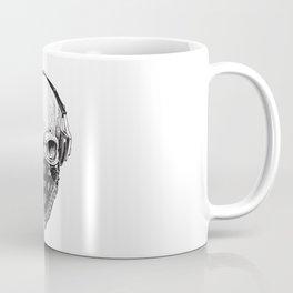 Skull in Headphones Coffee Mug