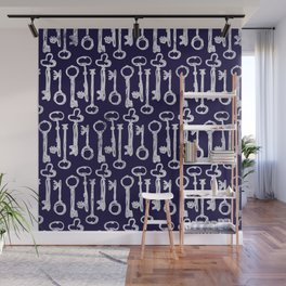 Keys Pattern Wall Mural