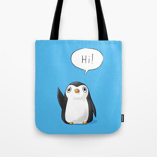 Hi Penguin Tote Bag