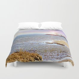 Sunset At The Beach - Tod's Point Duvet Cover