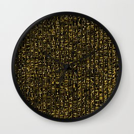 Hieroglyphics GOLD Wall Clock
