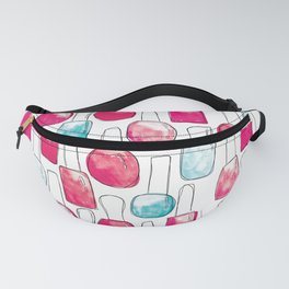 Nail Polish | Duck Egg and Cherry Red Pattern Fanny Pack