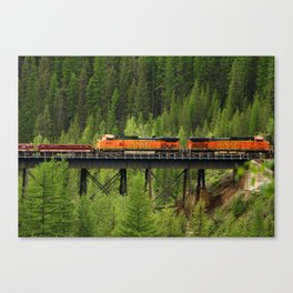 BNSF Going Over Goat Lick Creek Canvas Print