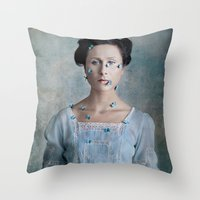 valentina Throw Pillows featuring Valentina by Maria Kanevskaya
