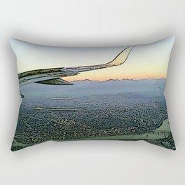 Landing together with the sun Rectangular Pillow