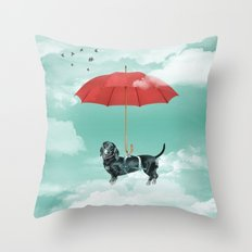 Dachshund chute Throw Pillow