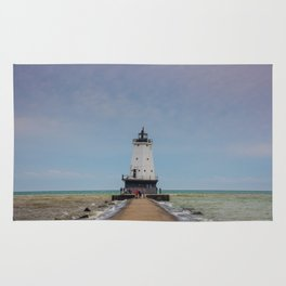 Ludington North Breakwater Light - Lake Michigan Rug