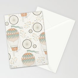 Hot Air Balloons and Unicycles Stationery Cards