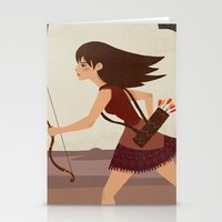 archer Stationery Cards featuring Archer by emilydove