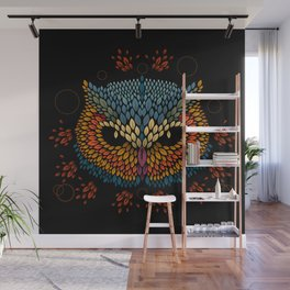 Owl Face Wall Mural