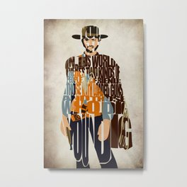Blondie Poster from The Good the Bad and the Ugly Metal Print