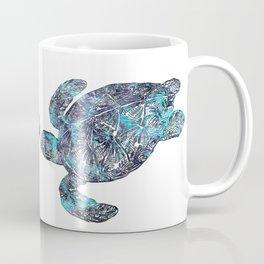 Sea Turtle Blue Watercolor Art Coffee Mug