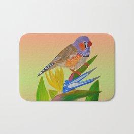 Beckoning bird of paradise Bath Mat