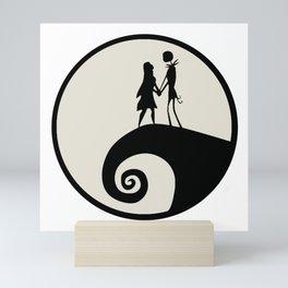Jack & Sally Silhouette Mini Art Print