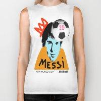 messi Biker Tanks featuring Messi by SNACKONART
