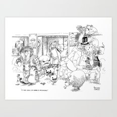 Correspondance / Translation Art Print