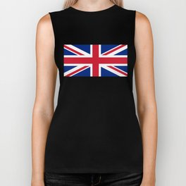 UK FLAG - The Union Jack Authentic color and 1:2 scale  Biker Tank