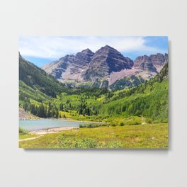 Maroon Bells Early September, Aspen Colorado Metal Print